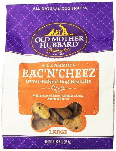 Omh Biscuit Bacon Chs Lg 3.5lb Old Mother Hubbard Crunchy Classic Snacks For Dogs Large Bac'n'cheez 3 Pound And 5 Ounce Bag