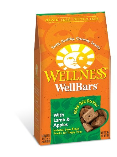 Wellness Wellbar Grain Free 20 Wellness Wheat Free Oven Baked Biscuits For Dogs Wellbars Lamb And Apple 20 Ounce Box