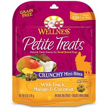 Wellness Sbr Crunch Dck Trt 6z Wellpet 76344890751 Wellness Petite Crunchy Mini Duck Mango Coconut Treats For Dogs 6 Ounce