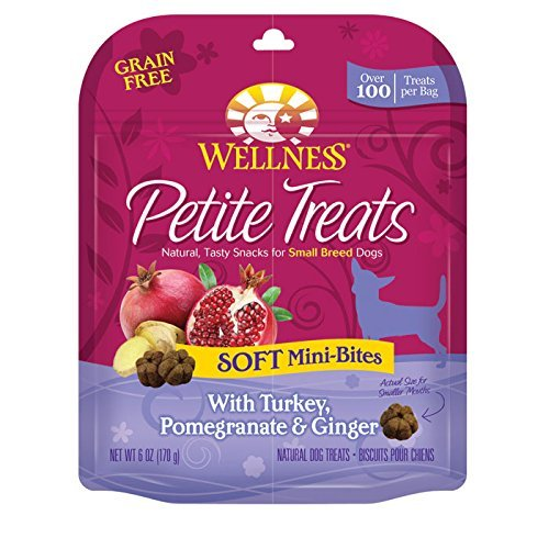 Wellness Sbr Soft Tky Trt 6oz Wellpet 76344890799 Wellness Petite Soft Mini Turkey Pomegranate Ginger Treats For Dogs 6 Ouce