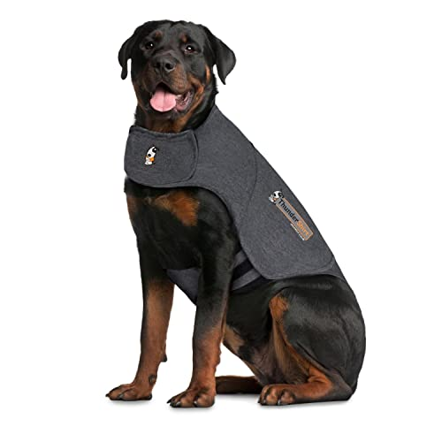 Thundershirt Grey Xxl >110lb Thundershirt Dog Anxiety Treatment Heather Gray (xx Large)