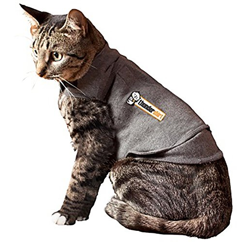 Thundershirt Cat Md Grey Thundershirt Grey Chest Cat 9 13 Lbs Medium