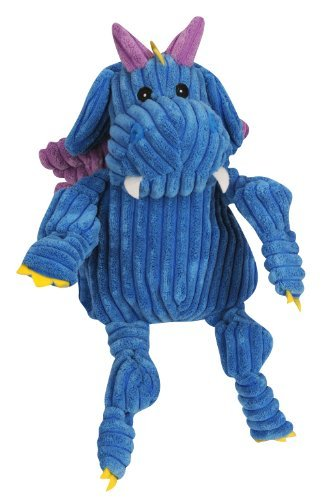 Huggle Puff The Dragon Blue Lg Hugglehounds Puff The Knottie Dragon Squeak Toy Large Blue