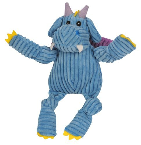 Huggle Puff The Dragon Blue Sm Hugglehounds Puff The Knottie Dragon Squeak Toy Small Blue