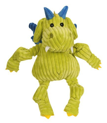 Huggle Puff The Dragon Yel Lg Hugglehounds Puff The Knottie Dragon Squeak Toy Large Citron