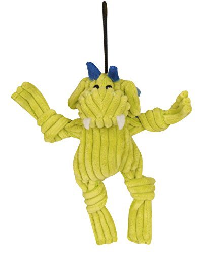 Huggle Puff The Dragon Yel Sm Hugglehounds Puff The Knottie Dragon Dog Toy Citron Small