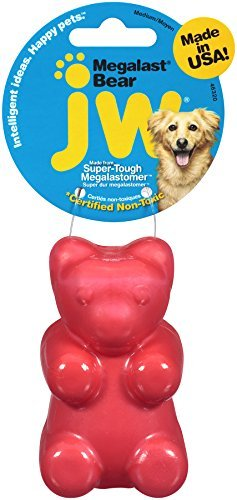Jw Dog Megalast Bear Md Jw Pet Company Megalast Gummi Bear Dog Toy Medium Colors Vary