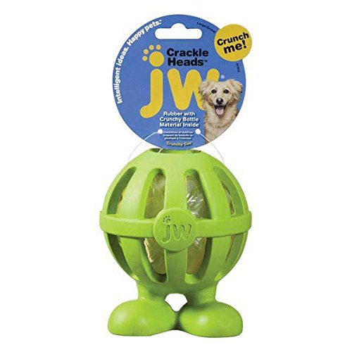 Jw Crackle Heads Cuz Lg Jw Pet Company Crackle Heads Crackle Cuz Dog Toy Large Colors Vary