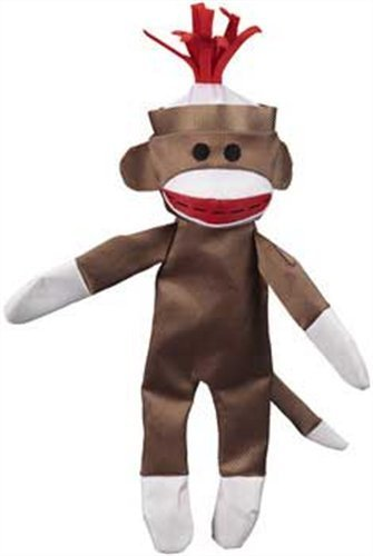 Jw D Crackl Heads Conv Mky Lg Jw Pet Company Crackle Heads Canvas Monkey Dog Toy Large
