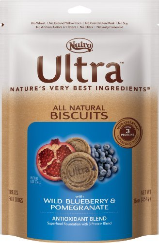 Nutro Ultra D Bisc Bb Pom 16oz Ultra Dog All Natural Biscuits With Wild Blueberry And Pomegranate