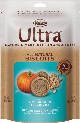 Nutro Ultra D Bisc Pumpkn 16oz Ultra Dog All Natural Biscuits With Oatmeal And Pumpkin