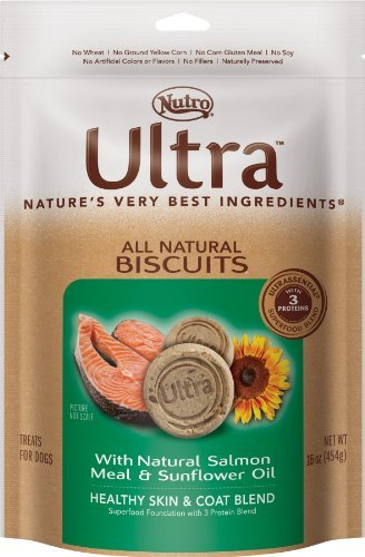 Nutro Ultra D Bisc Smn 16oz Ultra Dog All Natural Biscuits With Natural Salmon Meal And Sunflower Oil