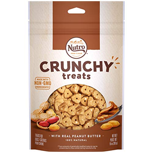 Max Nc Dog Crunch Pb 10oz Nutro Crunchy Treats With Real Peanut Butter 10 Ounce