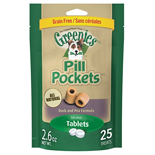 Pill Pockets Dog Duck Sm 2.6oz Greenies Pill Pockets Tablet Duck And Pea Flavor 2.6 Ounce 25 Count