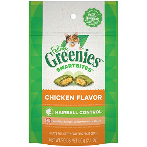 Greenies Cat Hairball Chk 2.1z Greenies Smartbites Hairball Control Chicken Cat Treats 2.1 Ounce