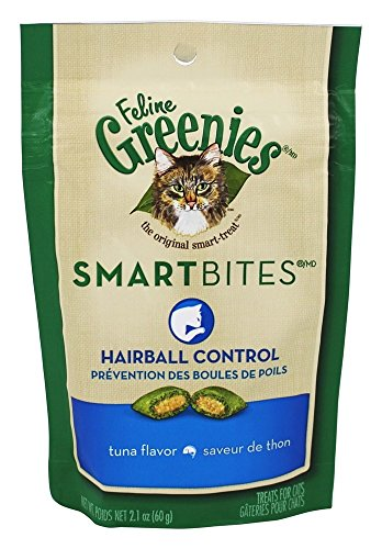 Greenies Cat Hairball Tuna 2. C D Ford & Sons 10100948 Feline Smartbites Cat Treats Tuna Hairball Control 2.1 Oz. Quantity 10
