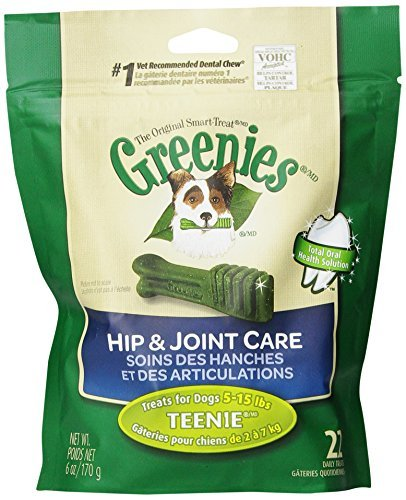 Greenies Dog H&j Teenie 6oz Greenies 6 Ounce Hip And Joint Care Dental Chew Teenie