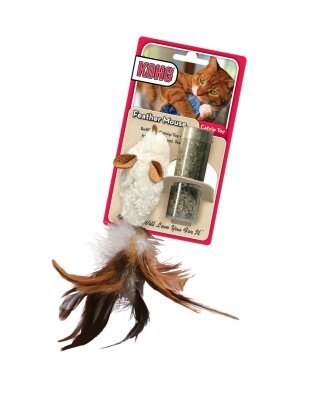 Kong Cat Feather Mouse Cat Supplies Naturals Mouse With Feather