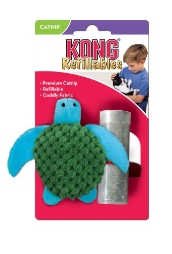 Kong Cat Turtle Kong Turtle Refillable Catnip Toy