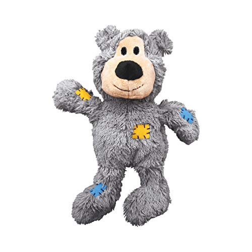 Kong D Wild Knots Bear S M Kong Wild Knots Squeaker Bear For Dogs Small Medium Colors Vary