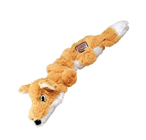 Kong D Scrunch Knots Fox S M Kong Scrunch Knots Fox Dog Toy Small Medium
