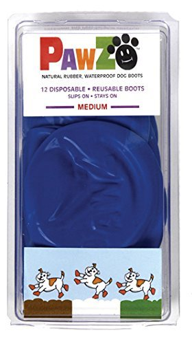 Pawz Dog Boots Md Blue 12ct Pawz Blue Water Proof Dog Boot Medium Up To 3 Inch