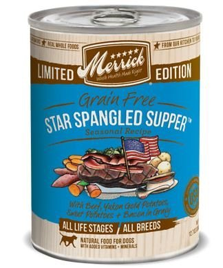 Merrick Gf Star Spangled Supper Dog 12.7oz