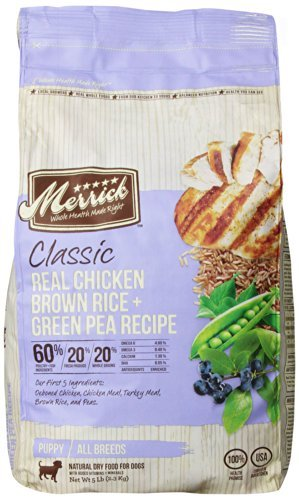 Merrick Classic 5lb Puppy Chicken Brown Rice & Green Pea
