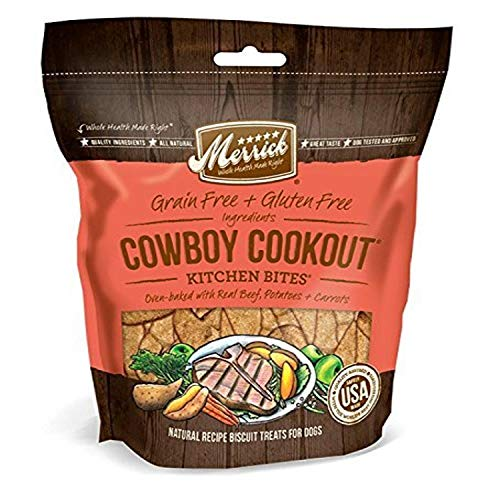 Merrick Kit Bites Cowboy 9oz Merrick Kitchen Bites For Pets 9 Ounce Cowboy Cookout