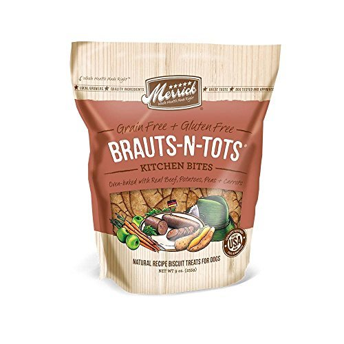 Merrick Kit Bites Brauts 9oz Merrick Kitchen Bites For Pets 9 Ounce Brauts N Tots
