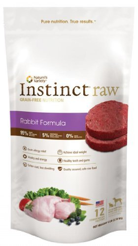 Nav D Raw Rbt Patty 6lb Nature's Variety Instinct Raw Frozen Rabbit Patties For Dogs 6lb