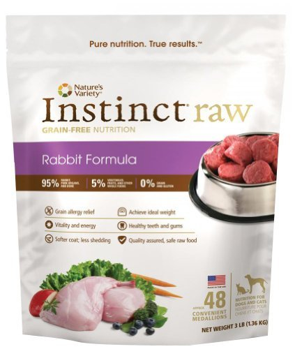 Nav Raw Medallion 3lb Rabbit48 Nature's Variety Instinct Raw Frozen Rabbit Medallions For Dogs 3lb