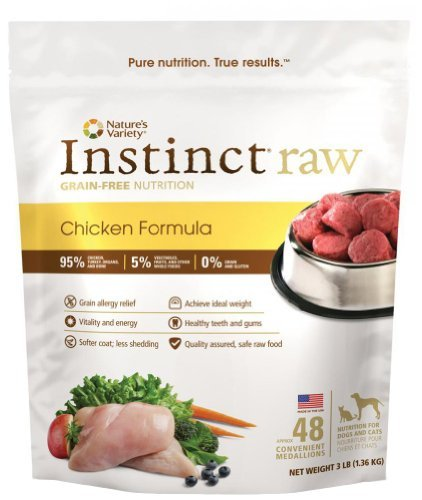 Nav Raw Medallion 3lb Chick 48 Nature's Variety Instinct Raw Frozen Chicken Medallions For Dogs