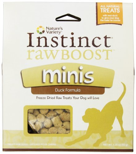 Nav Dog Raw Boost Duck 3.25oz Nature's Variety Raw Boost Mini Bites For Dogs Instinct Duck 3.25 Ounce