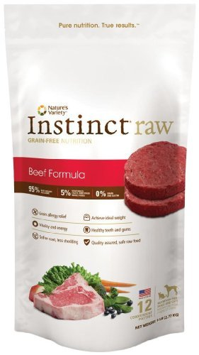 Nav Raw Patty 6lb Beef 12 Nature's Variety Instinct Raw Frozen Beef Patties For Dog & Cat