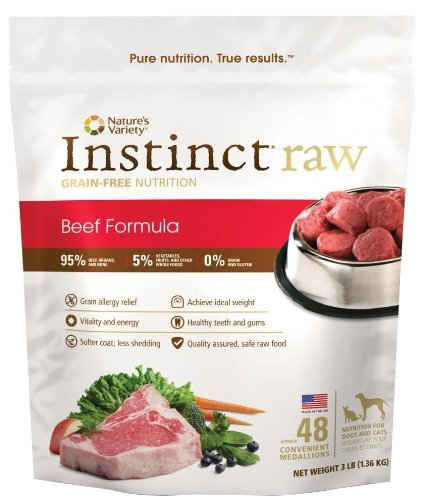 Nav Raw Medallion 3lb Beef 48 Nature's Variety Instinct Raw Frozen Beef Medallions For Dog & Cat 3lb