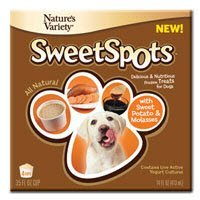 Nav Sweet Spots Sw.Potato 4pk Nature's Variety 699850 4 Pack Sweet Spots Sweet Potato And Molasses Frozen Treat For Pet