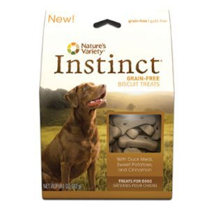 Nav Instinct Biscuit Duck 10oz Nature's Variety Instinct Grain Free Duck Meal & Sweet Potatoes Dog Biscuits 10 Oz Box