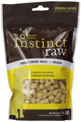 Nav Dog Instinct Fzd Ckn 6oz Nature's Variety Instinct Raw Freeze Dried Meal Or Mixer Chicken Formula For Dogs 6 Oz.
