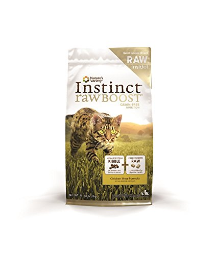 Nature's Variety Instinct Raw Boost Grain Free Chicken Meal Formula Dry Cat Food 5.1 Pound Qb 4