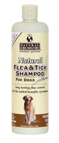 Nat Chem Flea Tick Shm Oat 16z Natural Chemistry Natural Flea And Tick Shampoo With Oatmeal For Dogs 16.9 Ounce