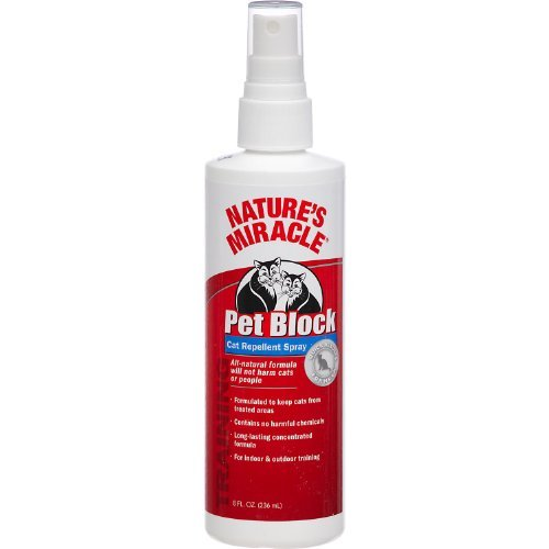 Nam Cat Pet Block 8oz Nature's Miracle Pet Block Repellent Spray Just For Cats 8 Ounce