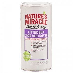 Nam Litter Box Powder 20oz Nature's Miracle Just For Cats Litter Box Odor Destroyer Powder 20 Oz
