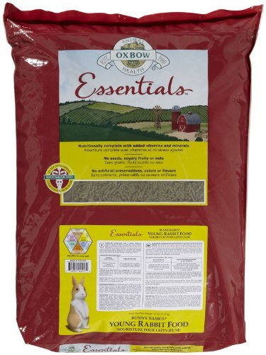 Su Oxbow Young Rabbit 25lb Oxbow Animal Health Bunny Basics Essentials Young Rabbit Food 25 Pound
