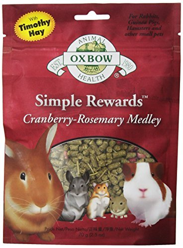 Oxbow Reward Cranberry 2.5oz Oxbow Animal Health Simple Rewards Cranberry Rosemary Medley Treat For Pets 2.5 Ounce