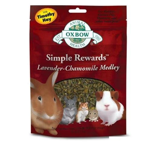 Oxbow Reward Lavender 2.5oz Oxbow Animal Health Simple Rewards Lavender Chamomile Medley Treat For Pets 2.5 Ounce