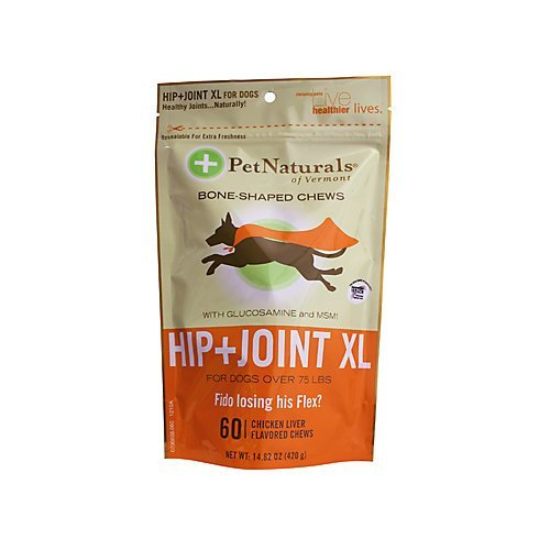 Pet Nat Dog Hip Joint Xl 60ct (new Sku) Pet Naturals Vermont Hip N Joint Xl Chews For Dogs