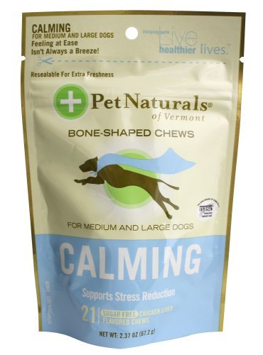 Pet Nat Dog Calming Lg 21ct Pet Naturals Of Vermont Calming Support For Medium & Large Dogs Soft Chews Chicken Liver Flavored 21 Chewables