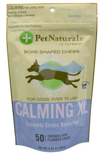 Pet Nat Calm Xl Dog 50ct Pet Naturals Of Vermont Calming Xl Bone Shaped Chews