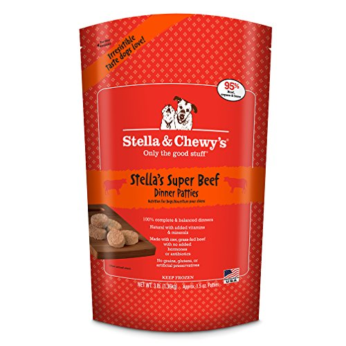 S&c Frzn Beef Bone Veg 3lb Stella & Chewy's Frozen Stella's Super Beef Dinner For Dog 3 Pound